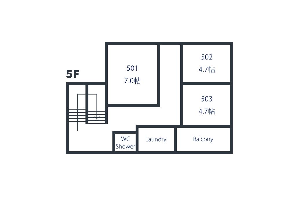 間取り図5階